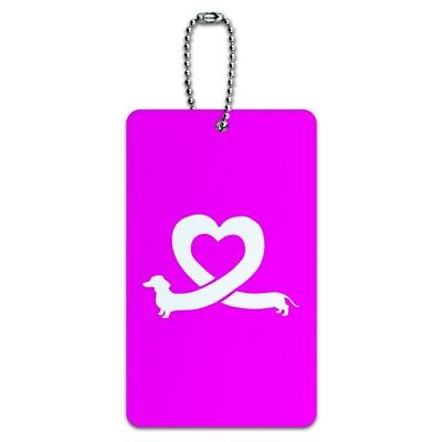 Dachshund Wiener Dog Love Heart Luggage Card Suitcase Carry-On ID Tag