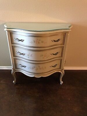 Dresser Nightstand Entry Table Bombe Chest Drexel Touraine French Provincial