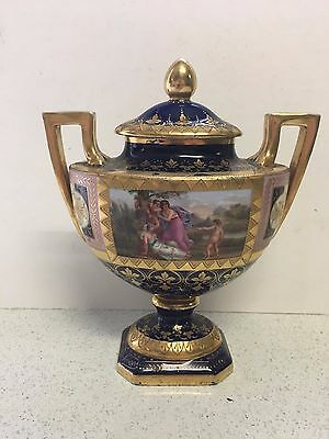 Antique 19th Century Royal Vienna Porcelain Vase/Urn Signed at The Base