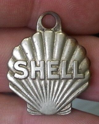 Old SHELL Oil & Gasoline ADVERTISING Watch Key FOB