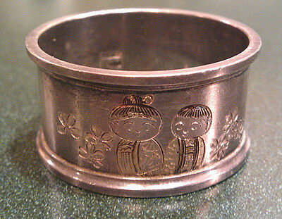 ANTIQUE STERLING SILVER NAPKIN RING ~ 17.98g 950 Silver
