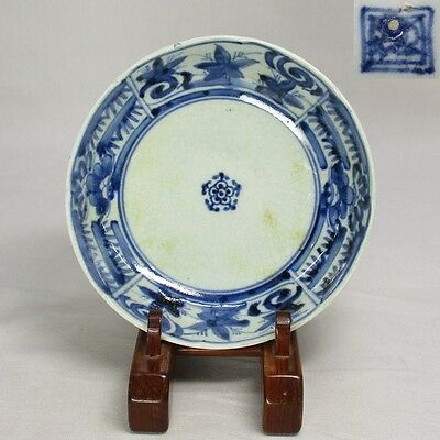 F208: Real Japanese OLD IMARI porcelain NAMASU plate w/good atmosphere in 18c. 2