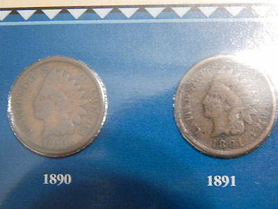 Indian Head Penny Collector Panels & Stamps PCS 1880-1909 With Binder Nice Set!