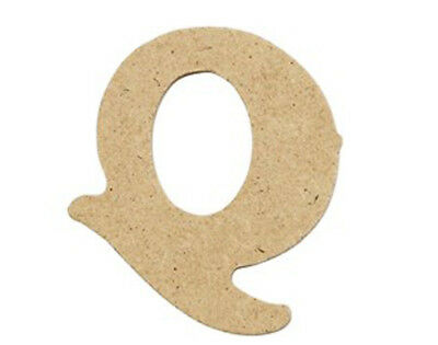 SALE - 10 Small 40mm Wooden MDF Letters - Q | Wood Shapes for Crafts