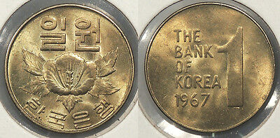 SOUTH KOREA: 1967 Won #WC62873