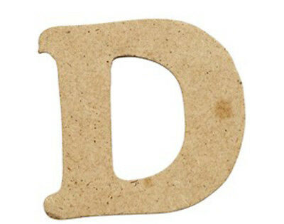 SALE - 10 Small 40mm Wooden MDF Letters - D | Wood Shapes for Crafts