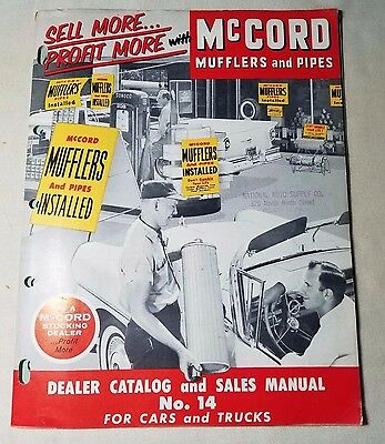 Vintage 1957 McCord Mufflers and Pipes Catalog Great Graphics
