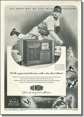 1947 TV Sports on WABD New York - DuMont Television Ad