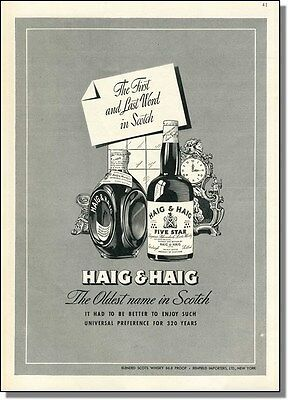 1947 Last Word in Scotch - Haig & Haig Whiskey Print-Ad