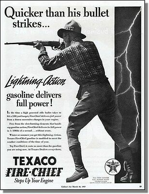 1937 Faster Than A Bullet - Texaco Gasoline Ad