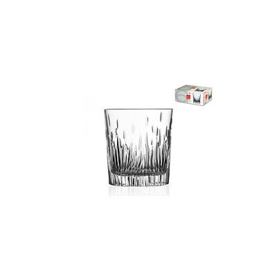 RCR Pack Of 6 Glass Cups Water 2 Fire Cl33 Glasses And Wine Glasses