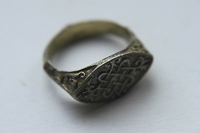 QUALITY SILVER  MEDIEVAL PERIOD FINGER RING c. 14/15th century AD