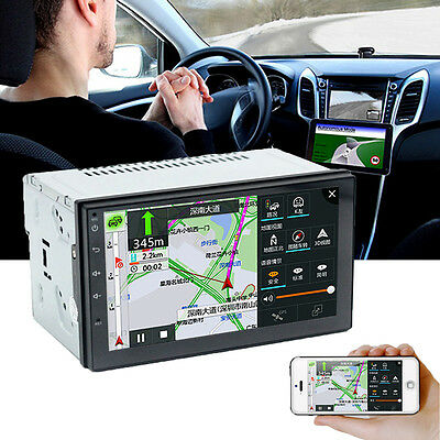 "7"" WiFi Double 2 Din Car Radio Stereo MP5 Player GPS 3G 4G Quad Core Android 6.0"