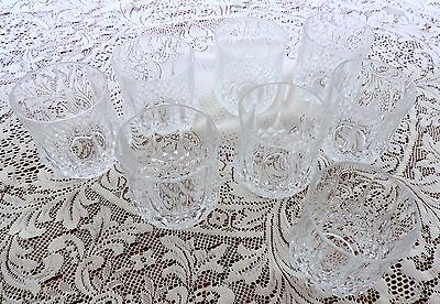 CRISTAL D'ARQUES Durand crystal LONGCHAMP DOUBLE OLD FASHIONED set of Eight (8)