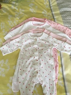 Set Of 4 Babygros Sleepsuits From Next First Size NEW