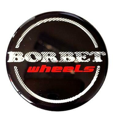 Original Borbet Wheels Nabendeckel Nabenkappe Schwarz Glanz Silber Rot Center Ca