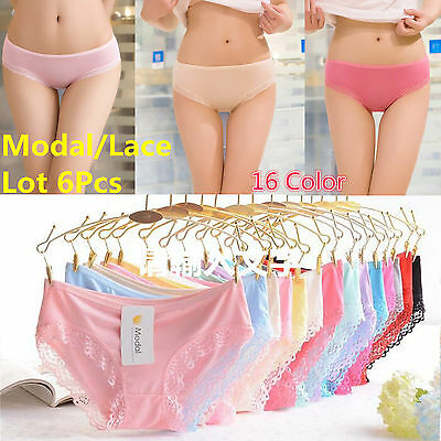 Lot Women Girls Comfortable Lace Mixed Panties Solid Briefs Underwear Knickers