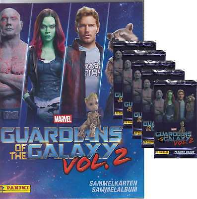 Panini - Marvel Guardians of the Galaxy Vol.2 - 5 Booster + 1 Starterset-Deutsch