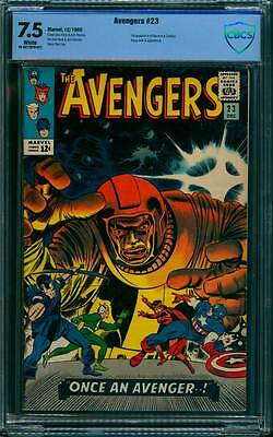 Avengers # 23  Classic Kang the Conqueror cover !  CBCS 7.5 scarce book !