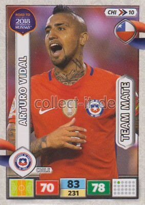 CHI10 - Arturo Vidal - Team Mates - Panini Adrenalyn Road to World Cup 2018