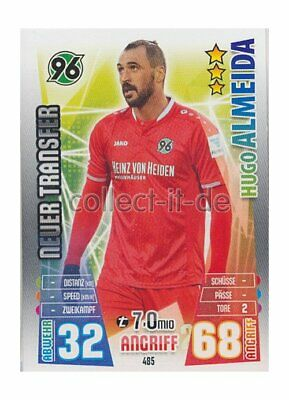 Match Attax Extra 15/16 MX-485 - Hugo Almeida - Neue Transfers