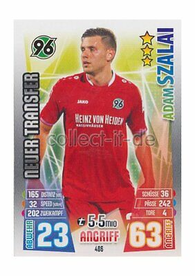 Match Attax Extra 15/16 MX-486 - Adam Szalai - Neue Transfers