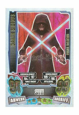 Force Attax Serie 4 - 233 - DARTH SIDIOUS - Sith - Separatist - Force Meister