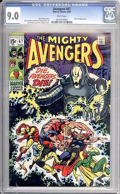 Avengers # 67  Classic Ultron-6 cover !  CGC 9.0 scarce book !