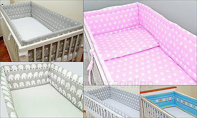 All round/allaround Nursery bumper/ 420 or 360 cm/ Padded 4 Sided/Cotbed/Cot Bed