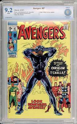 Avengers # 87  Origin of the Black Panther !  CBCS 9.2 scarce book !