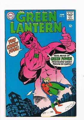 Green Lantern # 61 Thoroughly Modern Mayhem ! grade 8.0 scarce book !!
