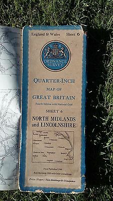Vintage ordinance survey map of North Midlands and Lincolnshire