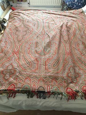 Antique Victorian Indian Paisley Throw