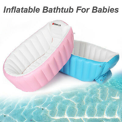 Portable Inflatable Bathtub For Babies Kid Baby Bath Thickening Folding Washbowl