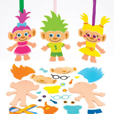 6 Hairy Heads Mix&Match Magnet Kits for Children to Make Creative Kids Craft Set