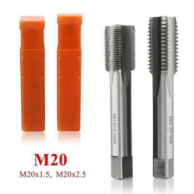 M20/22/24 HSS Metric Hand Tap Screw Thread Pipe Pitch Taper & Plug & Bottom Tool
