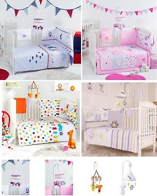 Red Kite Cosi Cot Bedding Set Quilt Bumper Blanket Sheet Or Musical Mobile
