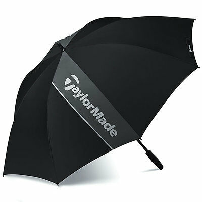 TaylorMade Single Canopy Golf Umbrella In Black/Grey- Brand New