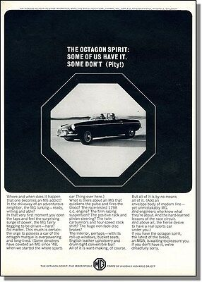 1965 MGB Sports Car - Octagon Spirit, Print-Ad