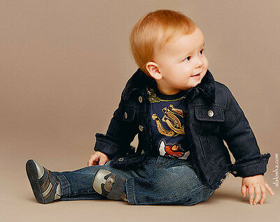 Dolce And Gabbana Baby Boys Blue Sicilian Western Print Top 18-24 Months