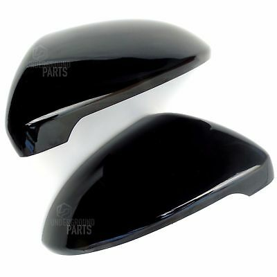 Vw Golf Mk7 R Gloss Black Door Wing Mirror Covers Caps Casings Pair Left Right