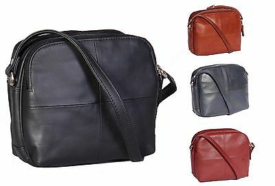 Womens Real Leather Small Organiser Travel Pouch Sling Shoulder Bag