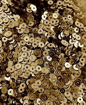 Sequins Tiny 3mm Gold Metallic Round Flat Choose Pack Size Doll Size
