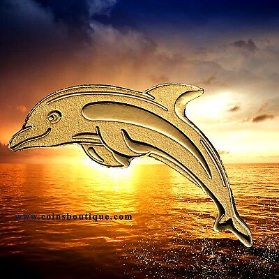 DOLPHIN .9999 GOLD coin Palau 2017 encapsulated with COA