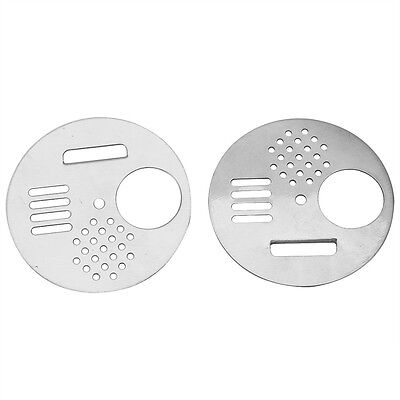 2x Stainless Steel Beehive Box Entrance Entry Disc Whirling Rotation Beehive AF