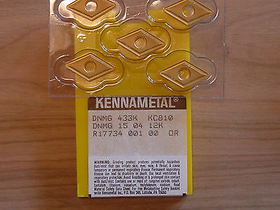 10 pcs.DNMG 433K   Kennametal  KC810 Carbide Inserts (2 boxes of 5)