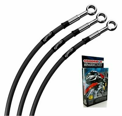 Fit Moto Guzzi 850 T3 California 77-82 Classic Black Braided Std Fr Brake Lines