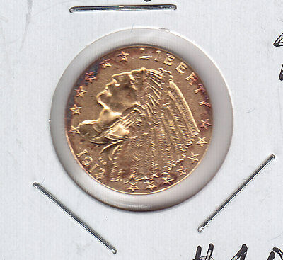 1913 USA $2 1/2 Gold - Nice United States of America Coin