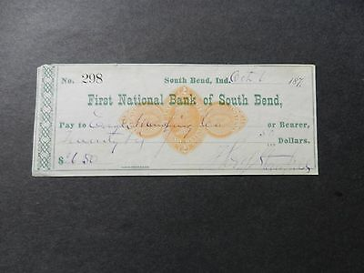 Rnd1 First National Bank Of South Bend, South Bend, Indiana 1876