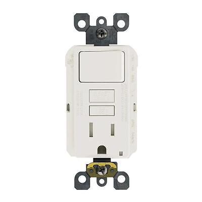 Leviton 15 Amp GFSW1 125-Volt Combo Self-Test Tamp-Resis GFCI Outlet and Switch